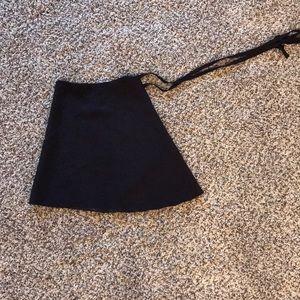 Dresses & Skirts - Mirella black wrap skirt osfa